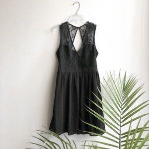 Black Lace Skater Dress Small